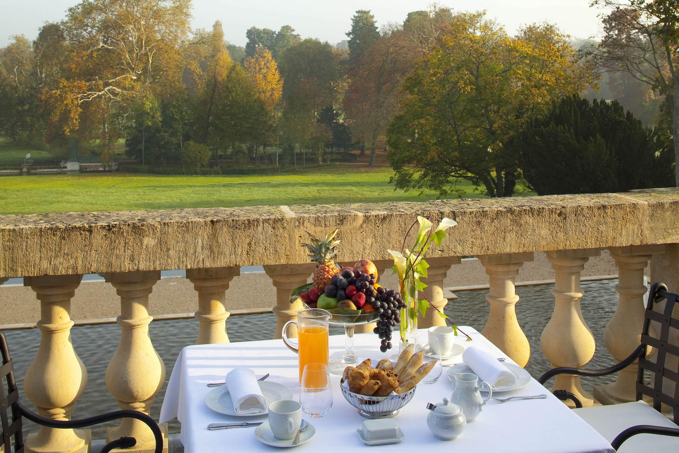 petit-déjeuner à l'Auberge du Jeu de Paume