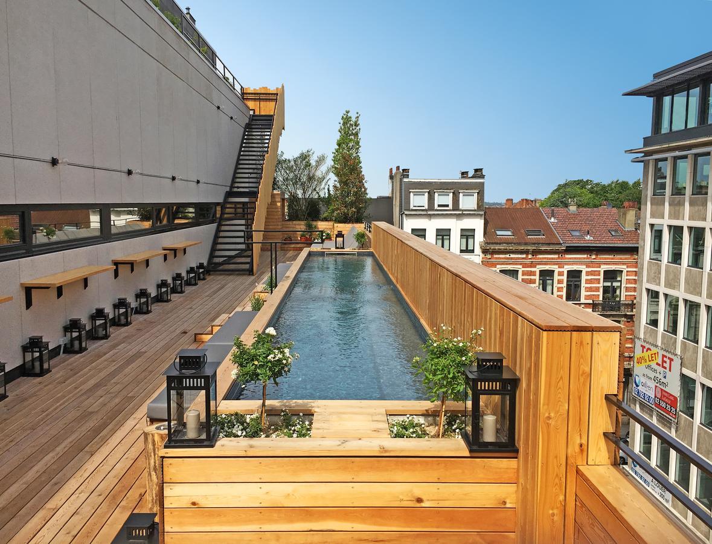 La piscine de Jam Hotel à Bruxelles